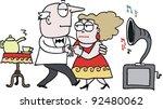 Vector Cartoon Of Older Couple...