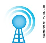 blue tower with radio close up... | Shutterstock .eps vector #92487358