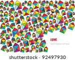 abstract vector background with ... | Shutterstock .eps vector #92497930