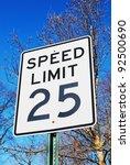 speed sign | Shutterstock . vector #92500690