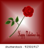 red rose for you | Shutterstock .eps vector #92501917