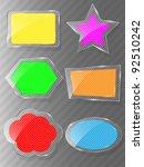 glass framework set. vector... | Shutterstock .eps vector #92510242