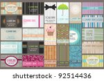 variety of 24 beautiful... | Shutterstock .eps vector #92514436
