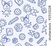 hand drawn seamless pattern... | Shutterstock .eps vector #92515228