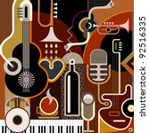 abstract music background  ... | Shutterstock .eps vector #92516335