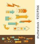 set doodle arrows | Shutterstock .eps vector #92519566