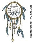 a highly detailed native... | Shutterstock .eps vector #92526208