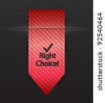 vector red ribbon bookmark | Shutterstock .eps vector #92540464