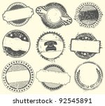abstract set of vector stamps... | Shutterstock .eps vector #92545891