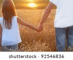father with his daughter at... | Shutterstock . vector #92546836
