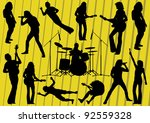 rock musicians silhouettes...