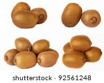 kiwi group on a white background | Shutterstock . vector #92561248