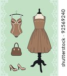 dress and corset | Shutterstock .eps vector #92569240