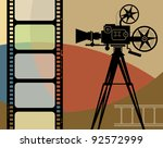 abstract cinema background ... | Shutterstock .eps vector #92572999