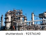 a petrochemical refinery plant... | Shutterstock . vector #92576140