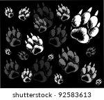 backgrounds animal tracks | Shutterstock .eps vector #92583613