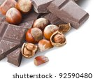chocolate with nuts  on the...