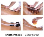 collection of 4 images  massage ... | Shutterstock . vector #92596840