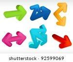 different 3d arrows   Shutterstock .eps vector #92599069