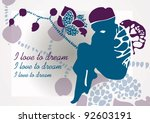 i love to dream | Shutterstock .eps vector #92603191