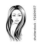 female silhouette  black... | Shutterstock .eps vector #92604457