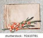 card for greeting or invitation ...   Shutterstock . vector #92610781