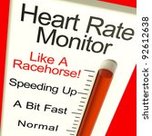heart rate monitor very fast... | Shutterstock . vector #92612638