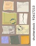 vector set vintage paper | Shutterstock .eps vector #92617213