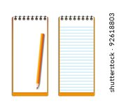 new pocketbook blank page with... | Shutterstock .eps vector #92618803
