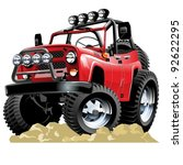 Vector cartoon 4x4 vehicle. One-click repaint