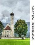 st. Coloman church in Bavaria, Germany - stock photo