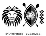 abstract,africa,african,african shield,animal,bold,brave,design element,head,icon,lion,lion crest,lion face,lion head,pattern