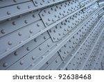 riveted metal from bridge ...