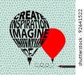 creative balloon pen   Shutterstock .eps vector #92641522