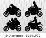 sport motorbike riders and...