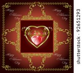 happy valentine's day greeting... | Shutterstock .eps vector #92651293