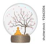 man of yoga does meditation...   Shutterstock .eps vector #92662006