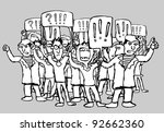 the striking workers | Shutterstock .eps vector #92662360