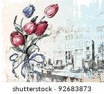 vintage illustration of... | Shutterstock .eps vector #92683873
