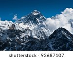 everest mountain peak   the top ... | Shutterstock . vector #92687107