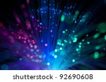 multicolored optical fibers   Shutterstock . vector #92690608