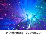 multicolored optical fibers   Shutterstock . vector #92690620
