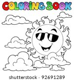 coloring book with sun and... | Shutterstock .eps vector #92691289