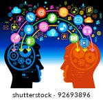 social network  communication... | Shutterstock .eps vector #92693896