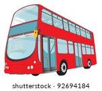 london red bus on white... | Shutterstock .eps vector #92694184