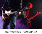 Rock Musicians Playing At A...