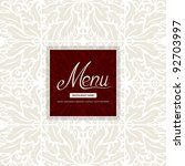 restaurant menu design | Shutterstock .eps vector #92703997