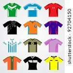soccer jersey set | Shutterstock .eps vector #92704150