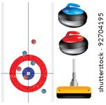 curling game element set | Shutterstock .eps vector #92704195
