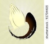 Vector  Praying Hands  Namaste...